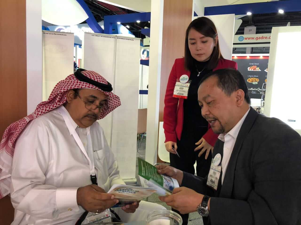Indonesian Pangasius introduce its products to potential buyer